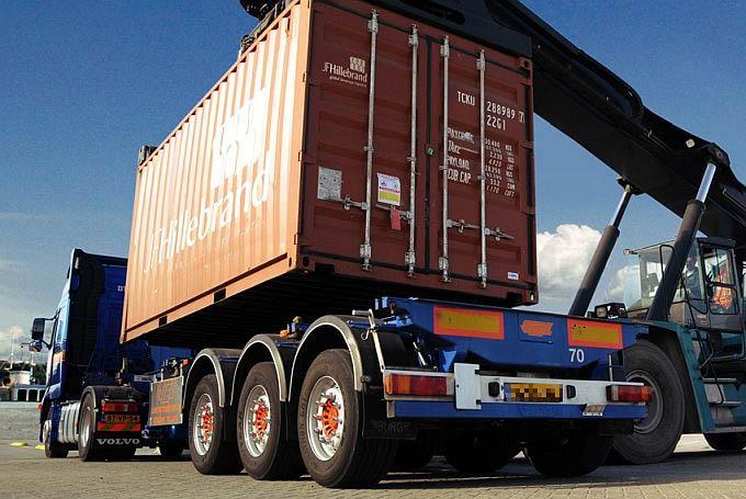 Какая высота прицепа-контейнеровоза с контейнером?