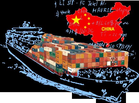 Морские контейнерные перевозки в/из Китая