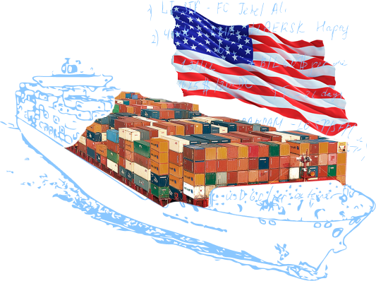 Морские контейнерные перевозки в/из США