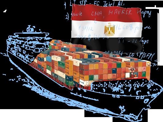 Морские контейнерные перевозки в/из Египта