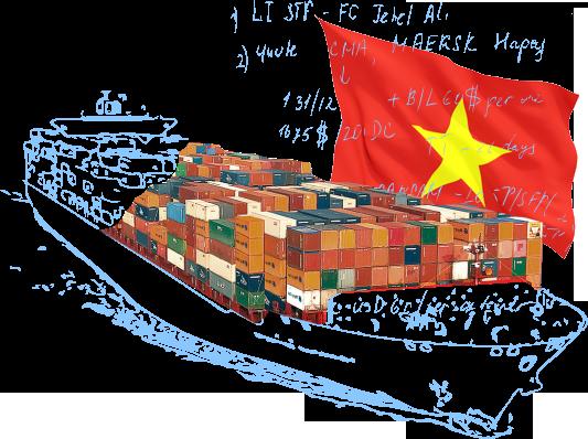 Морские контейнерные перевозки в/из Вьетнама