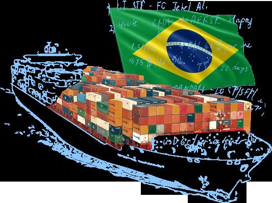 Морские контейнерные перевозки в/из Бразилии