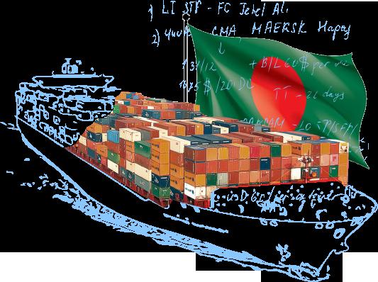 морской фрахт Бангладеш