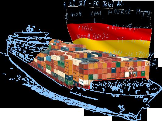 Морские контейнерные перевозки в/из Германии